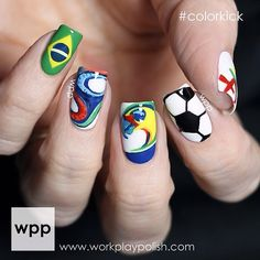 Instagram media by workplaypolish , World Cup 2014 nail nails nailart