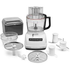 KitchenAid KFP1133 3 Speed 11 Cup Food Processor with External Adjustment Lever White Small Appliances Food Processors