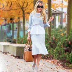 Go for the on-trend knit on knit look