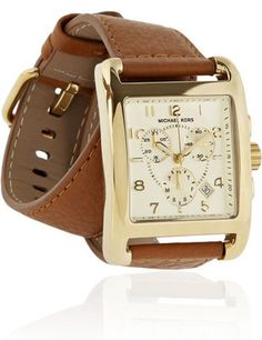 Michael Kors Gold-Plated Wrap Chronograph Watch