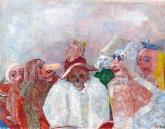 """James Ensor """"Masks Confronting Death"""" 1888 (MoMA, NYC)"""