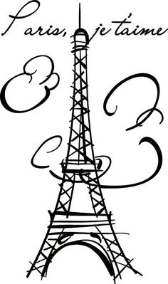 Eiffel Tower Paris Vinyl Wall Decals Stickers Art