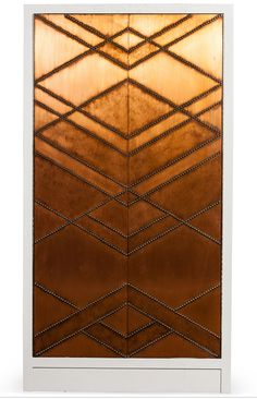 copper wall #repinned by amna mulabegovich Copper Wall, Copper And Brass, Copper Interior, Interior Exterior, Screen Design, Wall Design, Door Detail, Wall Finishes, Wall Patterns