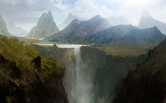The waterfall by AndreeWallin on DeviantArt