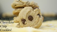 Chewy Chocolate Chip Cookies #recipe #chocolatechip #chewy #chocolate #dessert #recipe #cookies