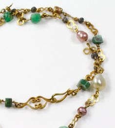 A Greco-Roman Gold, Pearl and Gemstone Necklace with Uraeus Pendant, c | Sands of Time Ancient Art