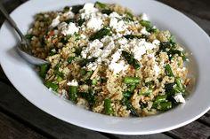 quinoa, asparagus, lemon and feta salad