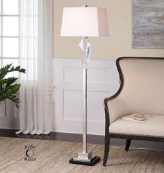 One Light Polished Nickel Floor Lamp : 9LTNE | Lights Unlimited Inc.