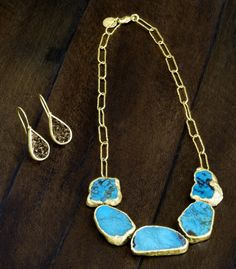 Nina Nguyen Designs Love in a Mist Necklace in Turquoise