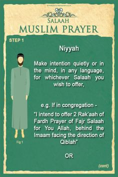 First step for offering salah-niyyah