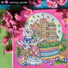 #Repost @coloring_secrets with @repostapp  Home is where your  is! Fun #sagoliktcoloralong with @booktalk27 @girl_with_javacurls @mnf_colours @chuckndash @camillacain @irini.mal and @lisalovescolouring  Hope to color another one soon! Mine was all colored using #staedler and @poscaoficial for background! Hope you guys like it!