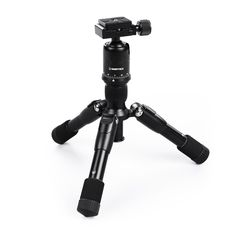 Tripod - InnerTeck Mini Folding Camera Tripod with Ballhead for DSLR EOS Canon Nikon Sony Samsung - Travel Portable Tripod