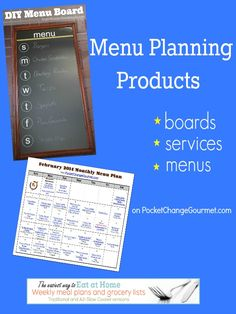 Menu Planning Products on PockeChangeGourmet.com