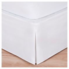 Magic Skirt Wrap-around Tailored Bed Skirt - White (Queen)
