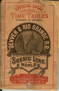 Vintage Railroad Timetables Cover