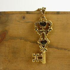 Skeleton Key Necklace / Vintage Steampunk by jessjamesjake on Etsy, $32.00