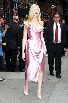 A Royal Wardrobe: Elle Fanning's Sleeping Beauty Style-- Vivienne Westwood Corset gown