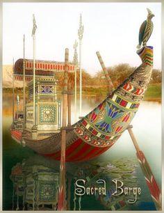 Ancient Art, Ancient Egypt, Ancient History, Legend Of The Seas, Barge Boat, Ship Figurehead, Kemet Egypt, Neon Painting, Oriental