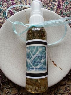 *New* from the Barefoot Witchery - Anti Haunting Spray. This magickally crafted spray contains herbs known for their metaphysical qualities of exorcism, banishing negative energy & spirits, and promoting the welcoming of good spirits.  A safe alternative to burning incense. Great for children to keep in their room. Whether they have a nightmare and wake up afraid, or they fear that there is something under the bed or in the closet, real or imagined. #wicca #pagan #banishing #magick…
