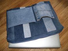 Notebooktaschen - Laptop-Tasche Jeans - ein Designerstück von NadelTrends bei DaWanda
