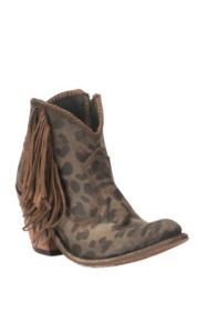 Liberty Women's Dark Brown Cheetah Print Round Toe Booties | Cavender's Short Cowgirl Boots, Fringe Cowboy Boots, Womens Cowgirl Boots, Fringe Booties, Ankle Booties, Bootie Boots, Shoe Boots, Cheetah Print, Dark Brown