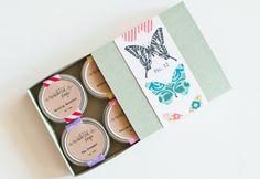 BUTTERFLY Lip Balm Gift Set - Natural, Vegan, Handmade, Sugar-Free. http://www.etsy.com/shop/seventhtreesoaps