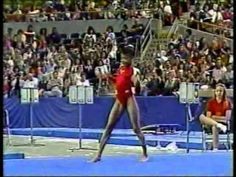 Dominique Dawes - 1992 Dodge Challenge Perfect 10 Floor Exercise. I love her turn around in the tumbling. That's awesome!