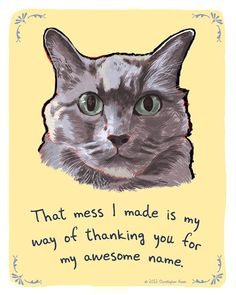 Jen's Cat 8x10 Print of Original Painting with by tinyconfessions