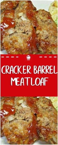 Cracker Barrel Meatloaf You Need: 2 eggs cup milk 32 Ritz crackers, crushed cup chopped onion Crock Pot Recipes, Pork Recipes, Cooking Recipes, Healthy Recipes, Family Recipes, Recipies, Cooking Blogs, Cooking Ideas, Healthy Cooking