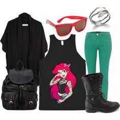"""Punk Princess Ariel"" by lieslzhenderson on Polyvore"