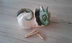 "Drache Skulptur ,, Elias "" Keramik, Garten Figur Wichtel"