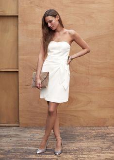 Sélection de robes blanches plan b pour votre mariage civil, votre soirée ou votre lendemain de mariage pour la saison 2016.