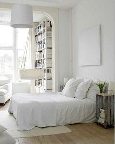 I <3 all white interior.