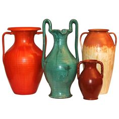 Collection Vintage Southern American Art Pottery Vases | From a unique collection of antique and modern ceramics at https://www.1stdibs.com/furniture/folk-art/ceramics/