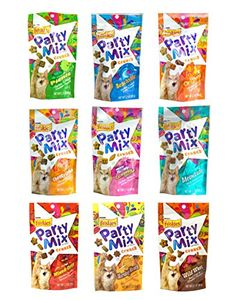 Friskies Party Mix Crunch Variety Pack 9 Flavors  Wild West Morning Munch Mixed Grill Picnic Beachside Cheezy Craze Original California Dreamin and Meow Luau ** To view further for this item, visit the image link.