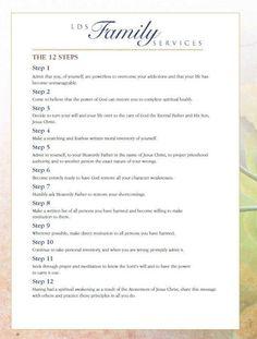 538 best lds topics study images lds church, church ideasthe twelve steps