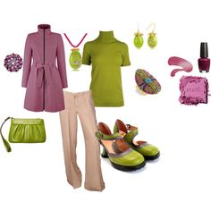 love the colors! Work outfit!