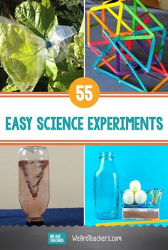 Have fun while you learn with these easy science experiments using materials you probably already have on hand. Preschool Learning Activities, Preschool Science, Science Classroom, Science For Kids, Teaching Kids, Fun Activities, Kids Learning, Outdoor Learning, Science Party