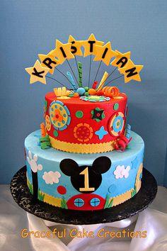 Mickey Mouse Club House Birthday Cake