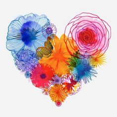 Flower Heart by Margaret Berg
