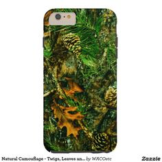 Natural Camouflage - Twigs, Leaves and Pinecones Tough iPhone 6 Plus Case