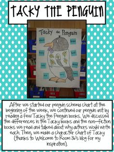 I love tacky the penguin! Did a readers theater with the books when I student taught!
