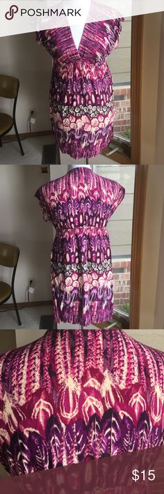 Pink and purple dress 28 inches from shoulder to bottom of dress 100% rayon BD Xhilaration Dresses