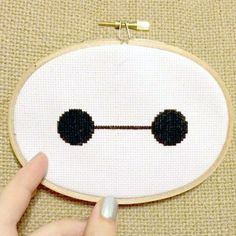 Make Baymax from Big Hero 6 cross stitch with this free pattern. Takes about an ...   #about #baymax #Big #cross #Free #Hero #pattern #stitch #takes