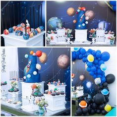 Fit for a boy who's dreams are out of this world! 2nd Birthday Party Themes, 1st Boy Birthday, Boy Birthday Parties, Birthday Ideas, Nasa Party, Space Baby Shower, Astronaut Party, Outer Space Party, Decoration