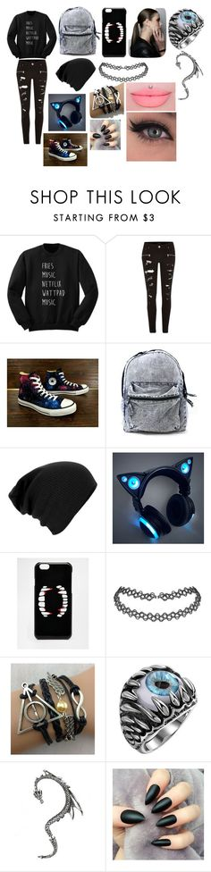 """""""Untitled #21"""" by erementaruartist on Polyvore featuring River Island, Converse and ASOS"""