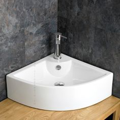 Delicieux Prato Counter Mounted Ceramic Corner Wash Basin Sink