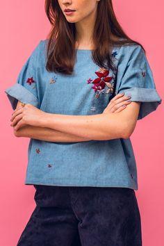 Persönliches Lieblingsstück: Kostenlose Anleitung für ein besticktes Jeanshemd - Initiative Handarbeit