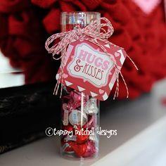 Hugs and Kisses Valentine Free Printable Tag/Card
