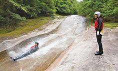 愛媛県・滑床(なめとこ)渓谷でのキャニオニング